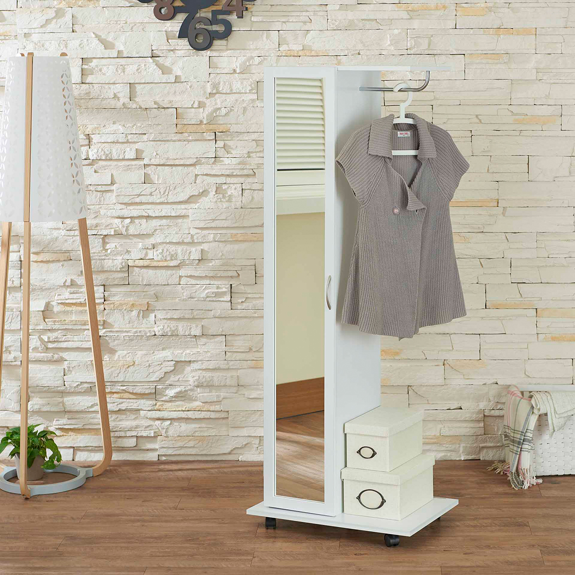 Easy Movable White Wardrobe | Home Furniture Manufacturers ...
