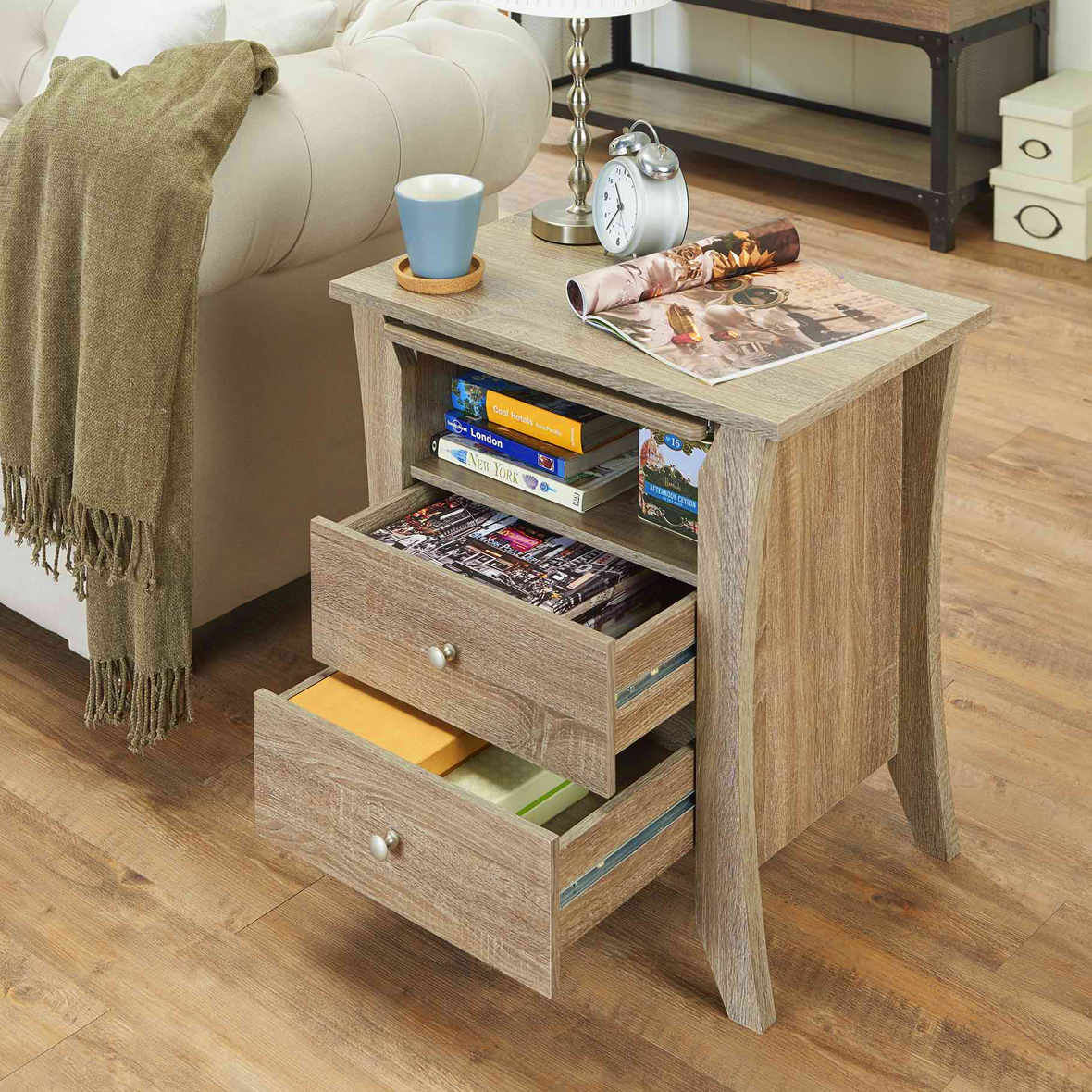 Espresso Laminate 3 Layers Night Stand (mesa auxiliar) | Fabricantes ...