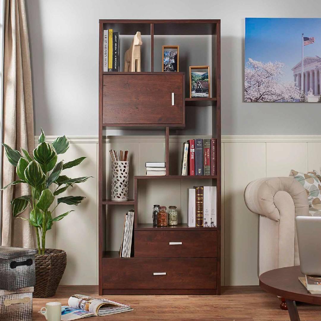 Libreria moderna in laminato ligneo vintage noce - Mobili per la casa ...