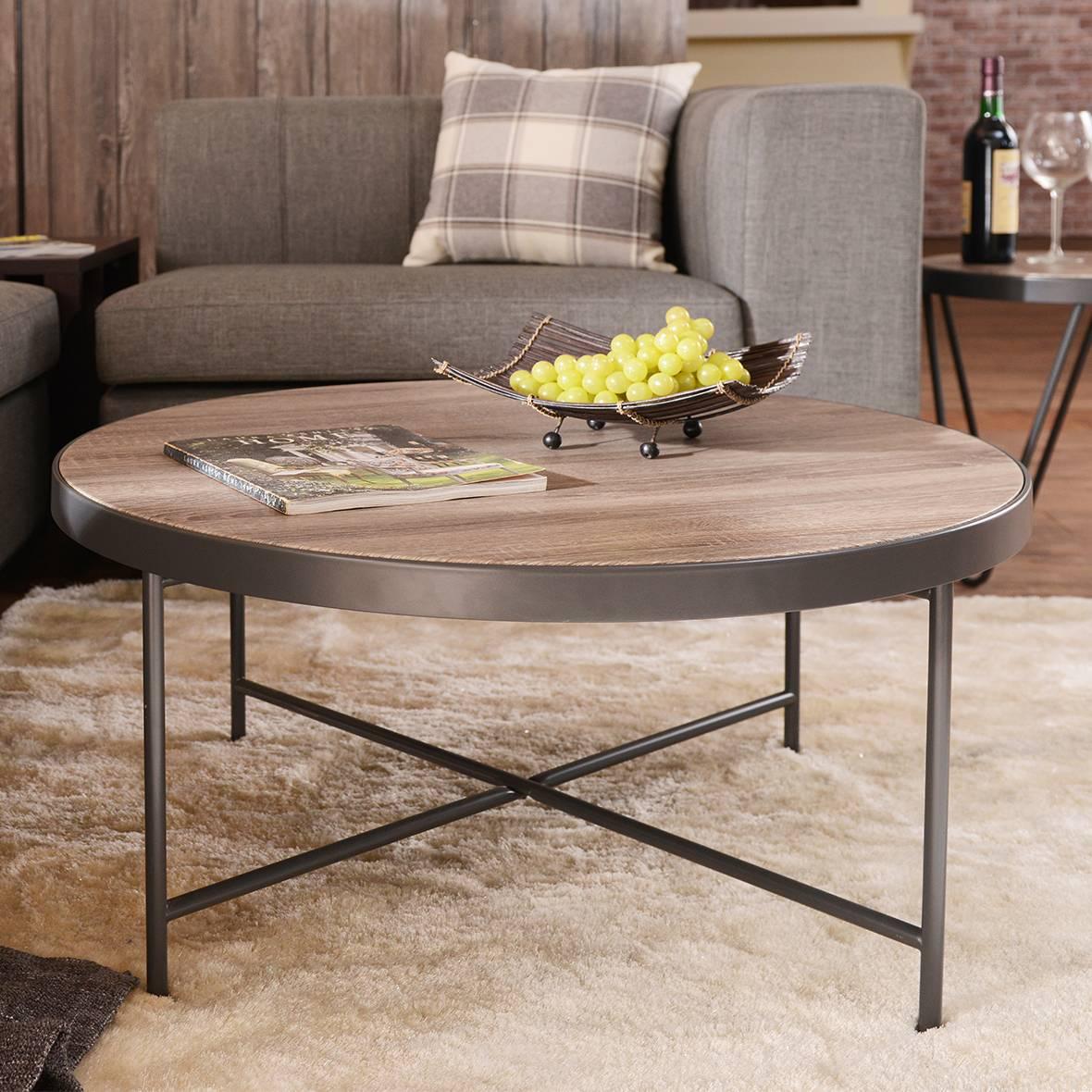 Mesa de centro con estructura de metal gris | Fabricantes de muebles ...