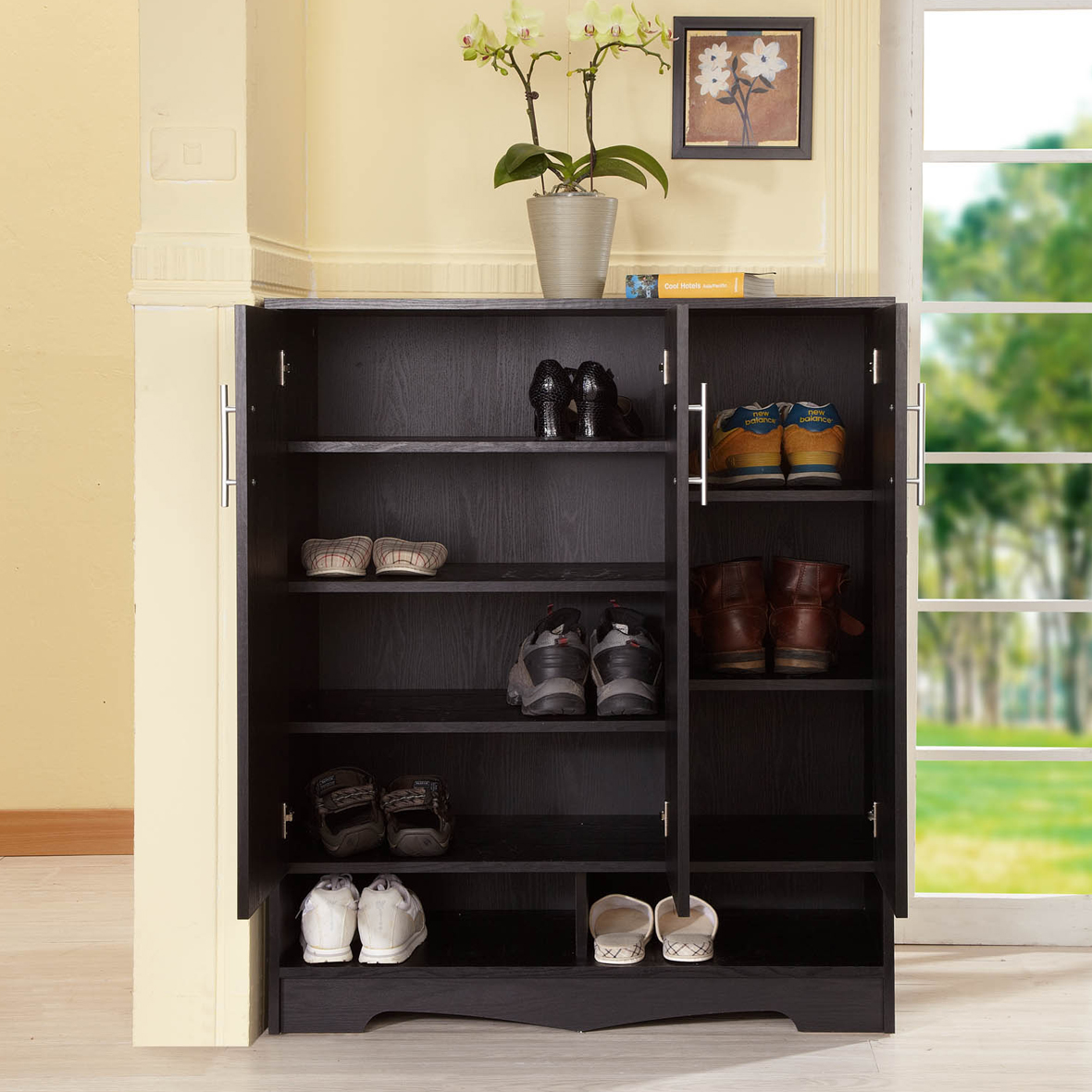 Bon Three Doors Shoe Cabinet Design