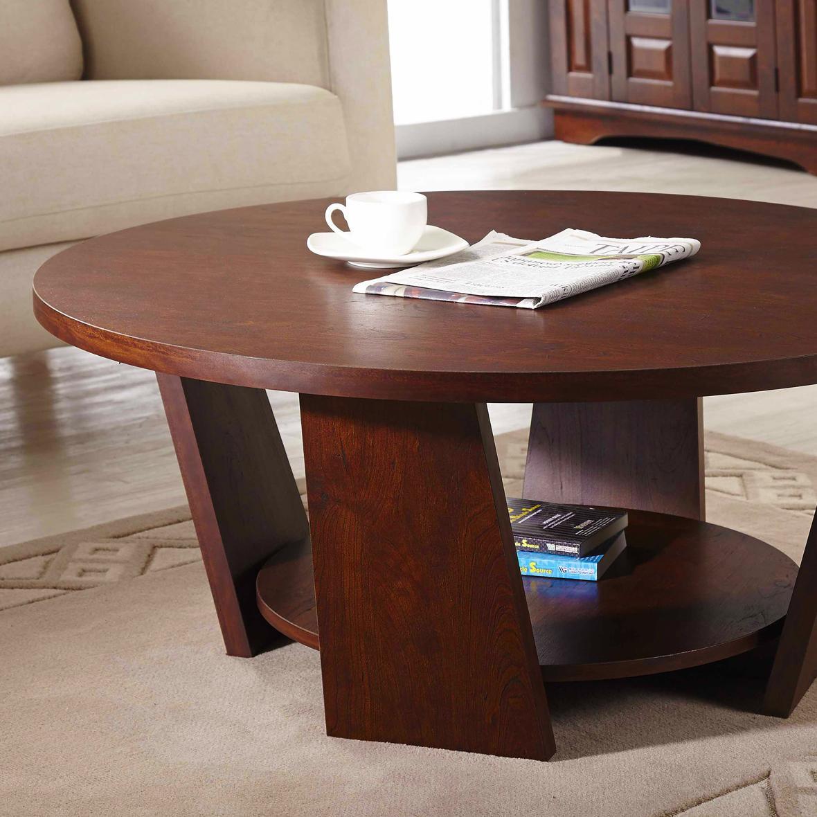 Mesa de centro redonda de dos capas | Fabricantes de muebles para el ...