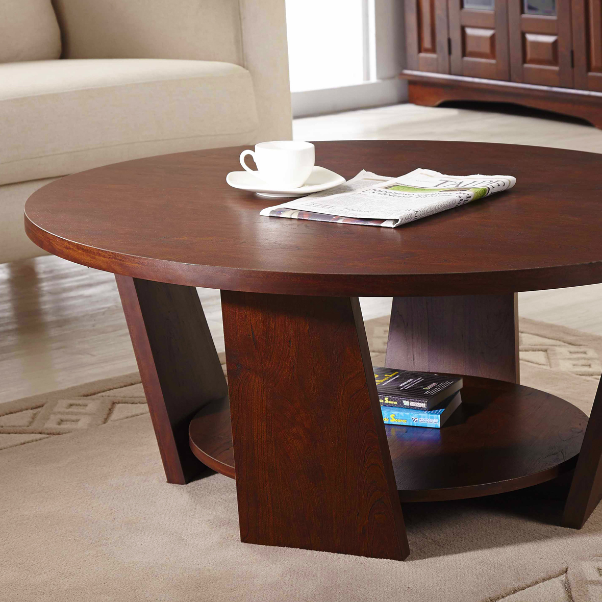 DIY Coffee Table · Flat Round Tabletop
