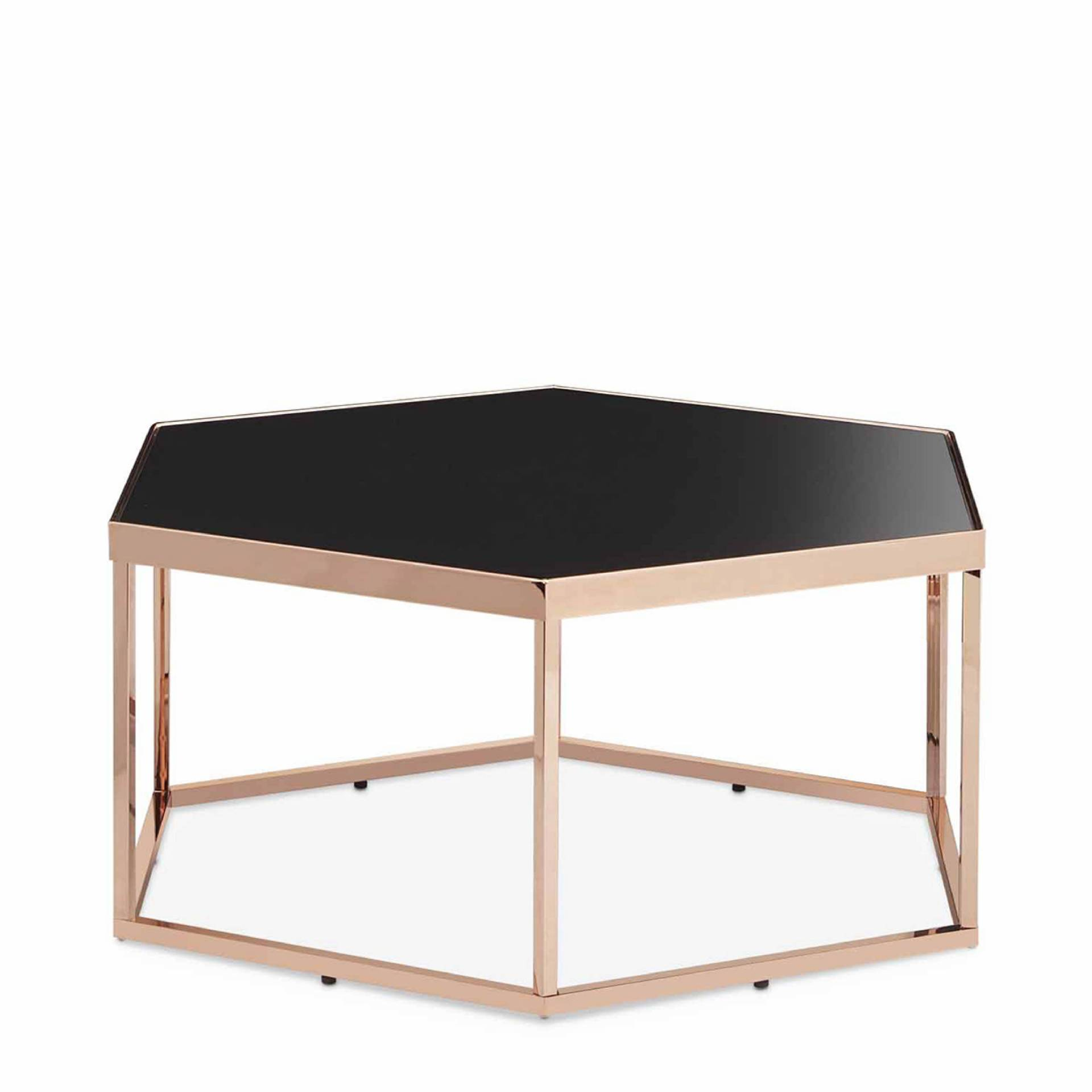 table basse hexagonale en verre noir fabricants de. Black Bedroom Furniture Sets. Home Design Ideas