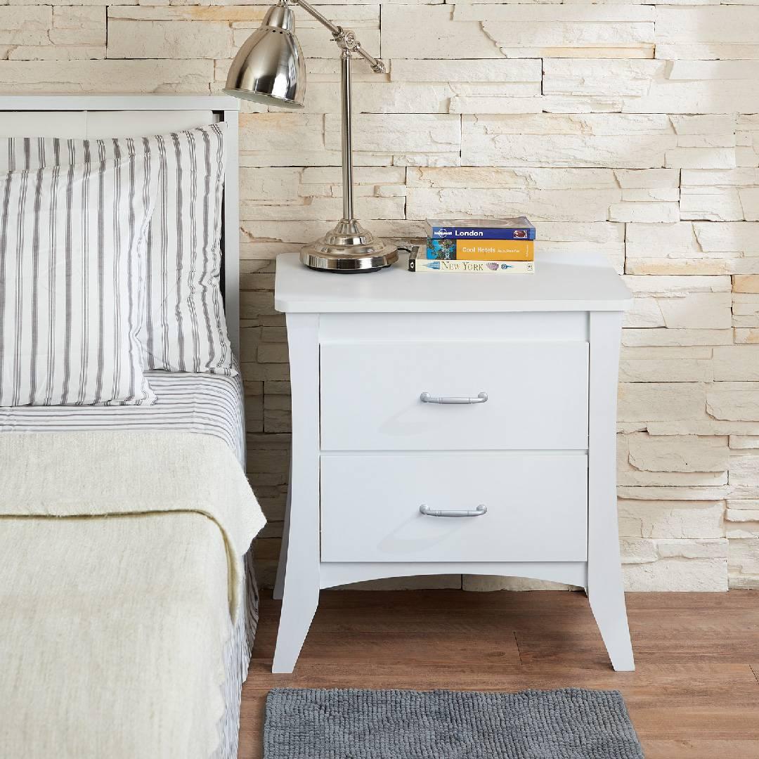 Tavolino da salotto di colore bianco brillante comodino - Mobili per la casa ...