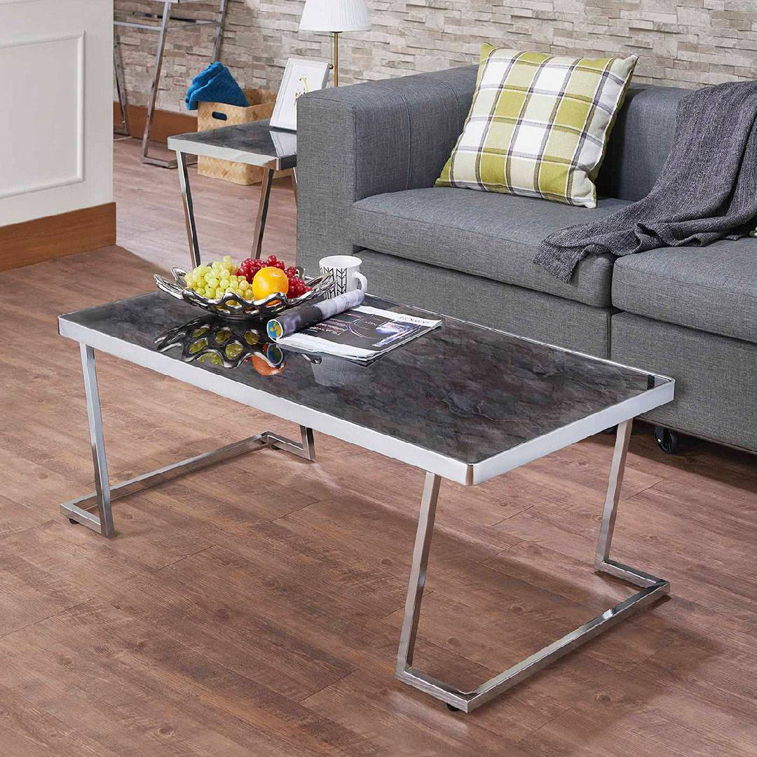 Easily Assemble L Shape Coffee Table