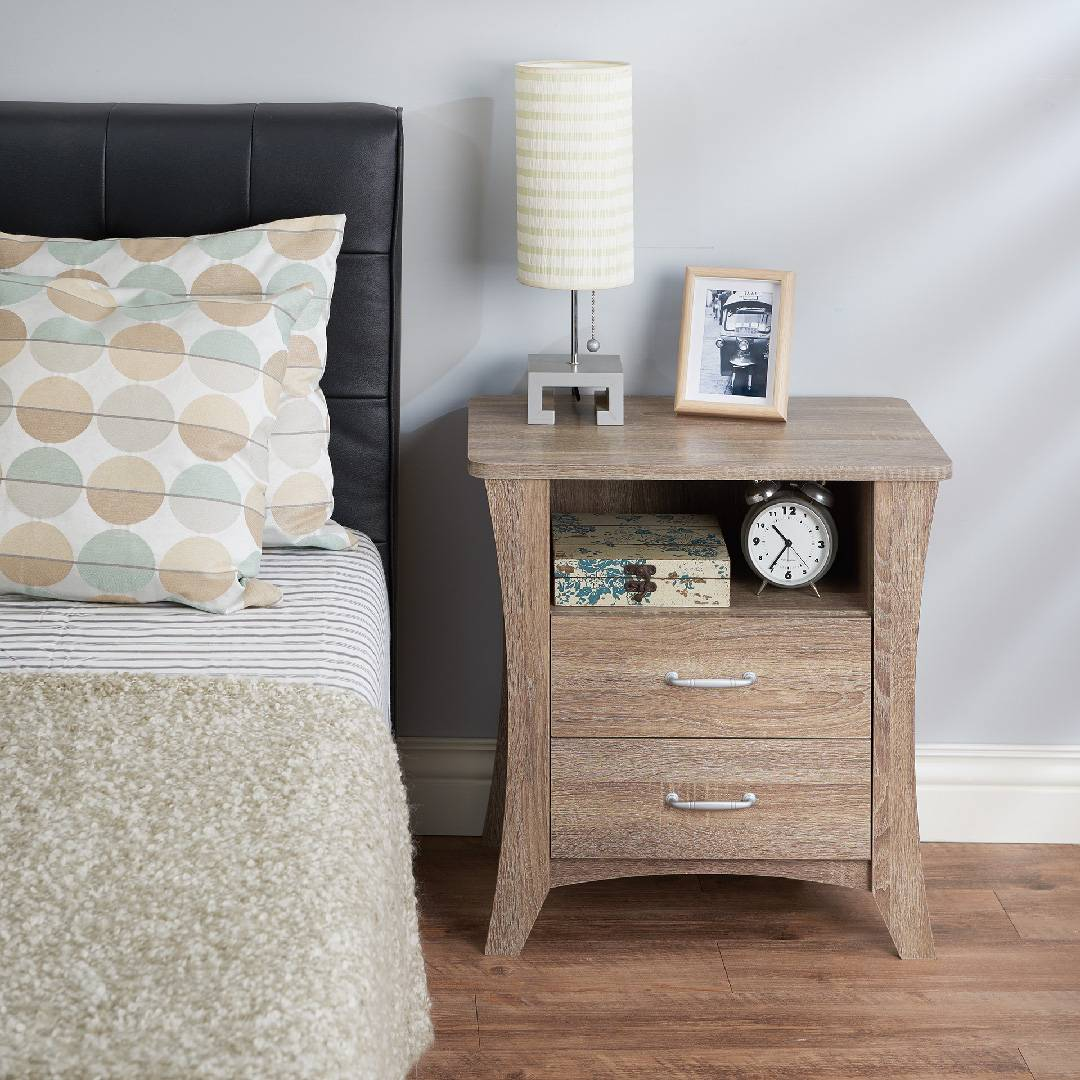 Side Table Has Three Layers Of Storage Space