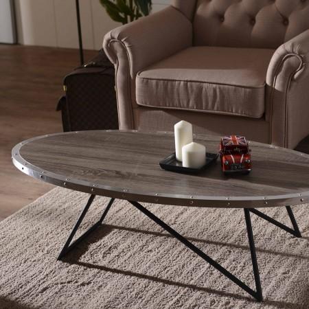 Mesa de café de forma ovalada   Fabricantes de muebles para el hogar ...