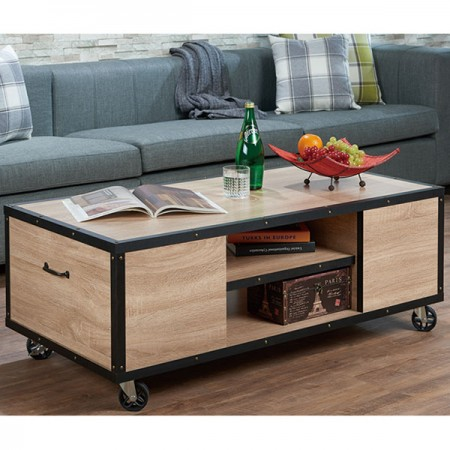 Country Industrial Mobile Coffee Table Part 49