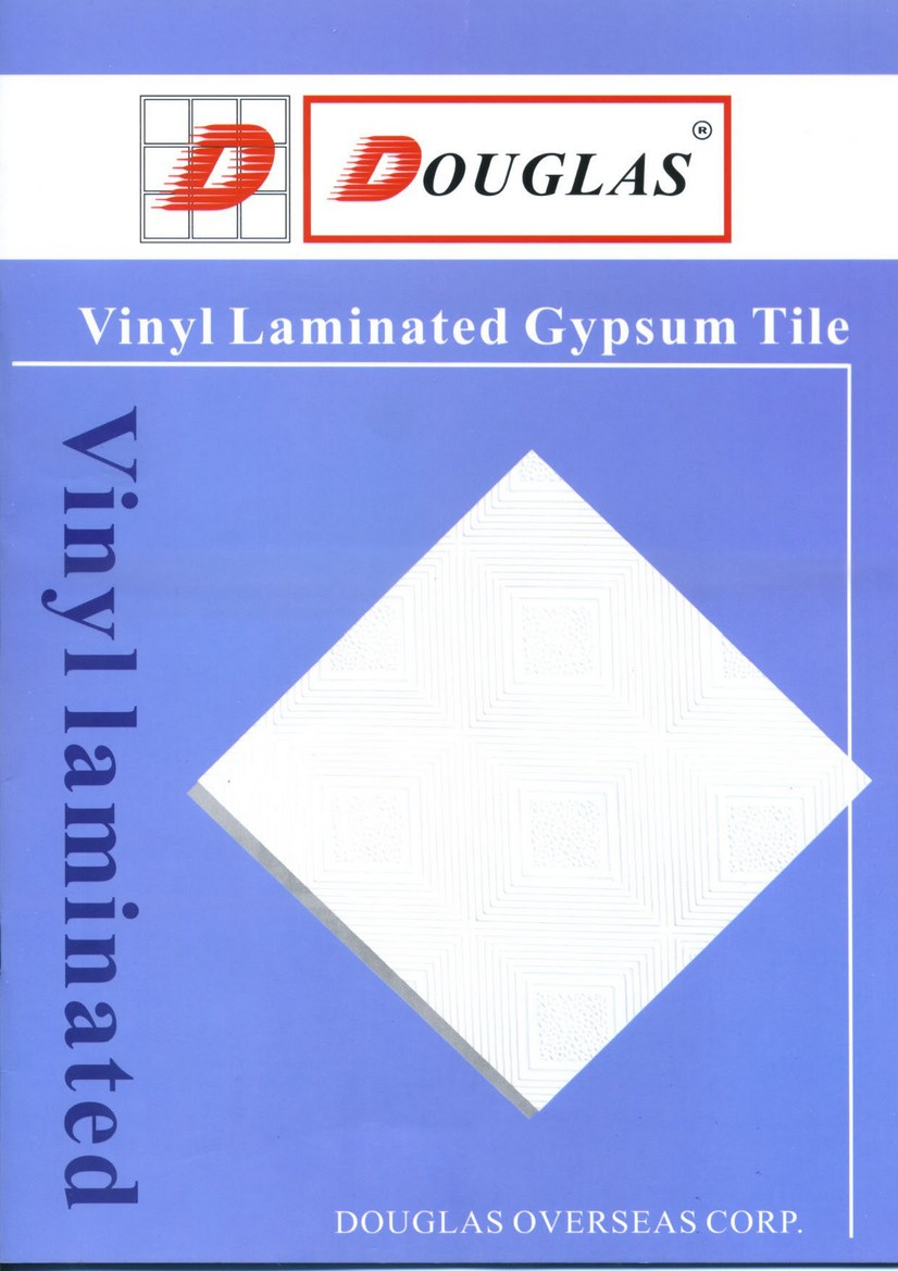 vinyl laminated gypsum ceiling tile douglas overseas corp. Black Bedroom Furniture Sets. Home Design Ideas