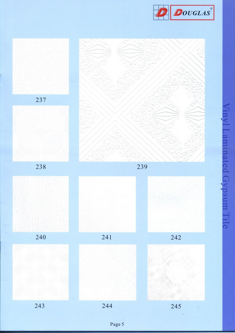 Vinyl Laminated Gypsum Ceiling Tile Douglas Overseas Corp