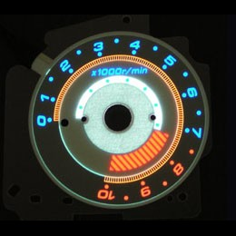 Electroluminescent Dashboard - Dashboard Displays
