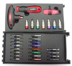 Master Kit Torque Screwdriver - Master Kit Sloky torque screwdriver with bits of Hex, Torx and Torx Plus for different Nm torque adapters. User friendly for CNC cutting tool of machining, turning and milling.