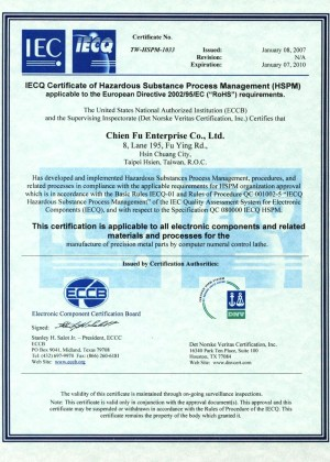 IECQ Certificate