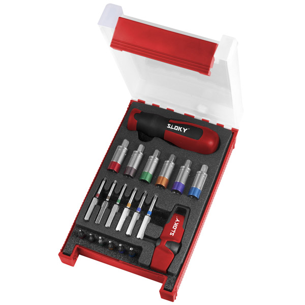 Togo Kit Sloky torque screwdriver with bits of Hex, Torx and Torx Plus for different Nm torque adapters. User friendly for CNC cutting tool of machining, turning and milling.