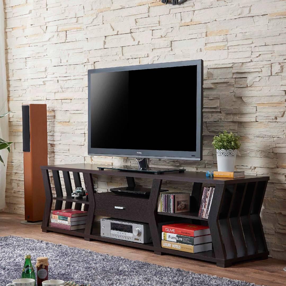 Meuble Tv Table Basse Assorti meuble de télévision pratique de 1,8 m modern sense | bureau