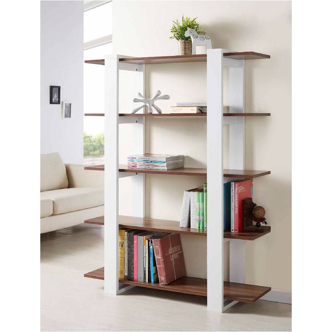 5 Layers Vintage Walnut Lamintae Modern Bookshelf Supply