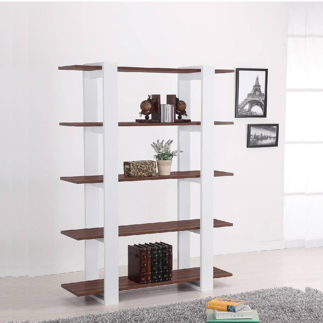 5 Layers Vintage Walnut Lamintae Modern Bookshelf Research