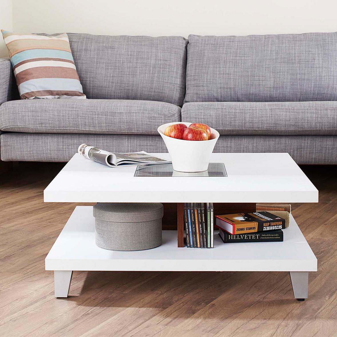 Meuble Tv Table Basse Assorti table basse carrée assemblage facile 80cm | bureau et maison