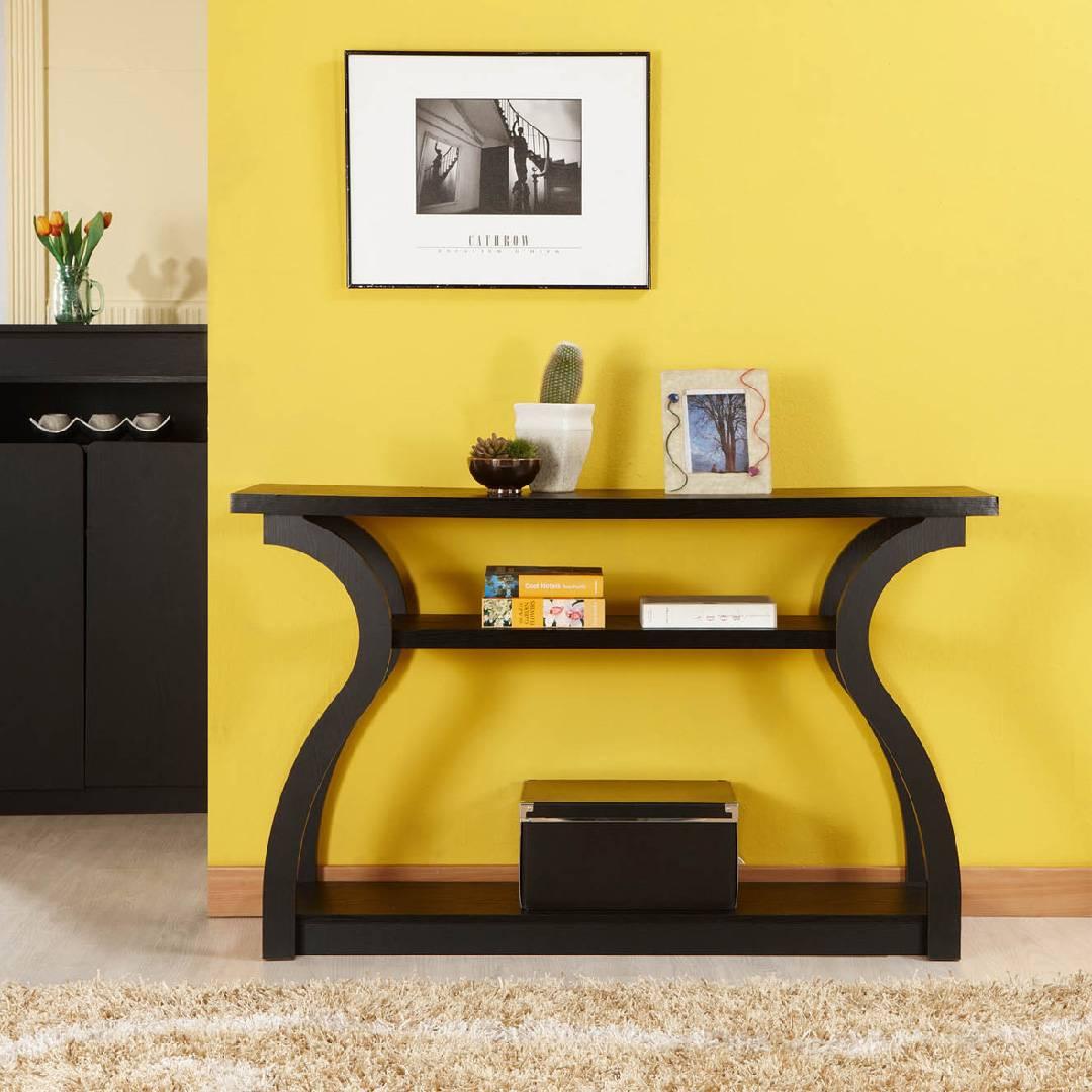 Gourd Streamline Console Table Safe Green Furniture Supplier Slicethinner