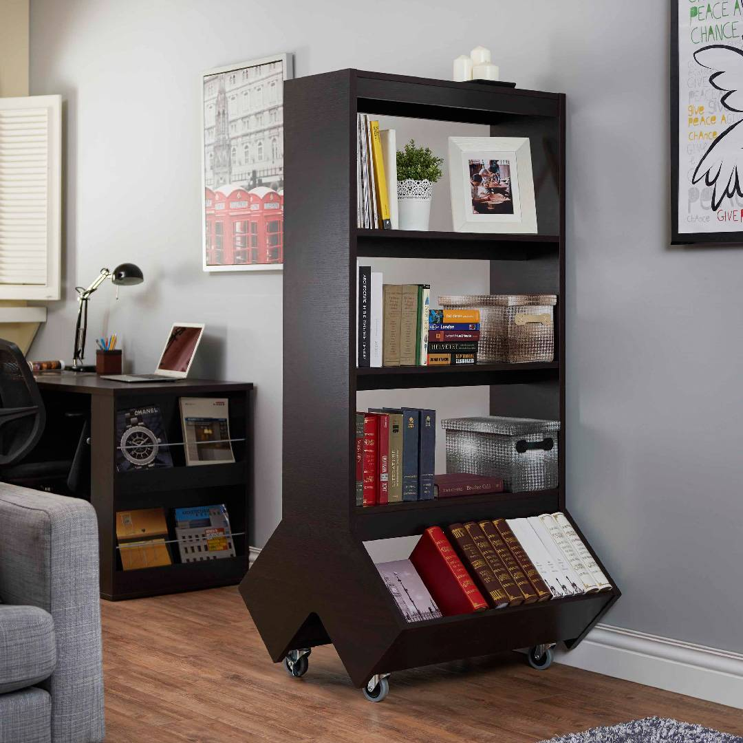 Easy Move Large Capacity Bookcase Supply One Stop Eco