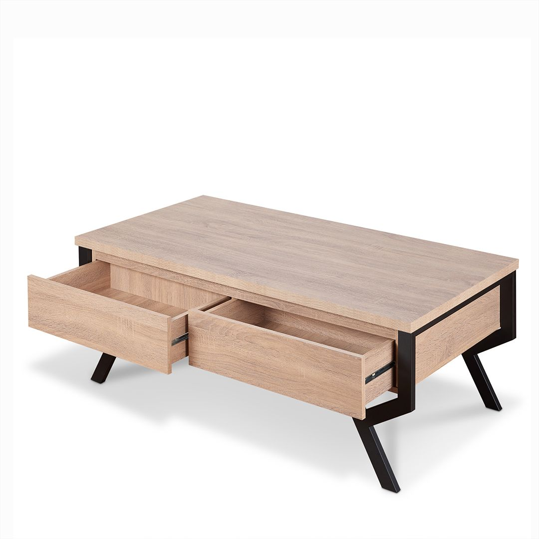 Modern Minimalist Wood Coffee Table Safe Green Furniture Supplier Slicethinner