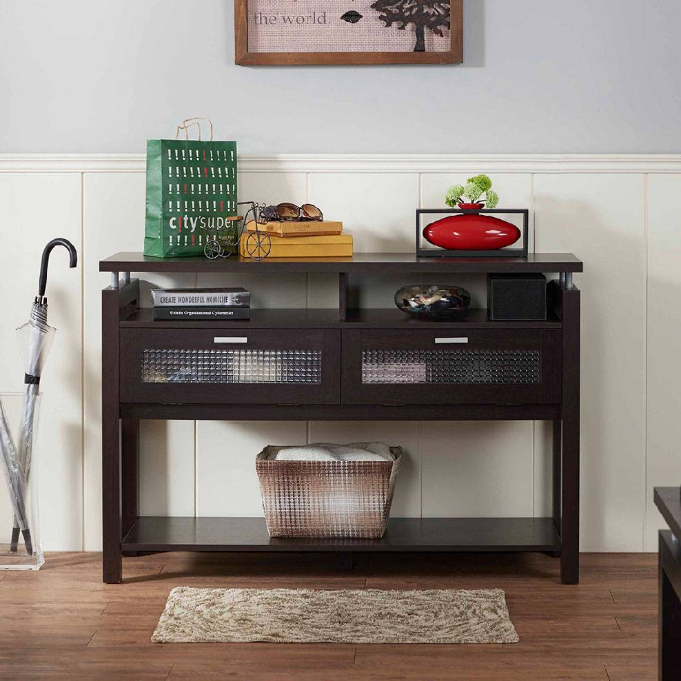 Console Table Style Is Simple, To Provide Storage Space For Many Of The  Storage Space