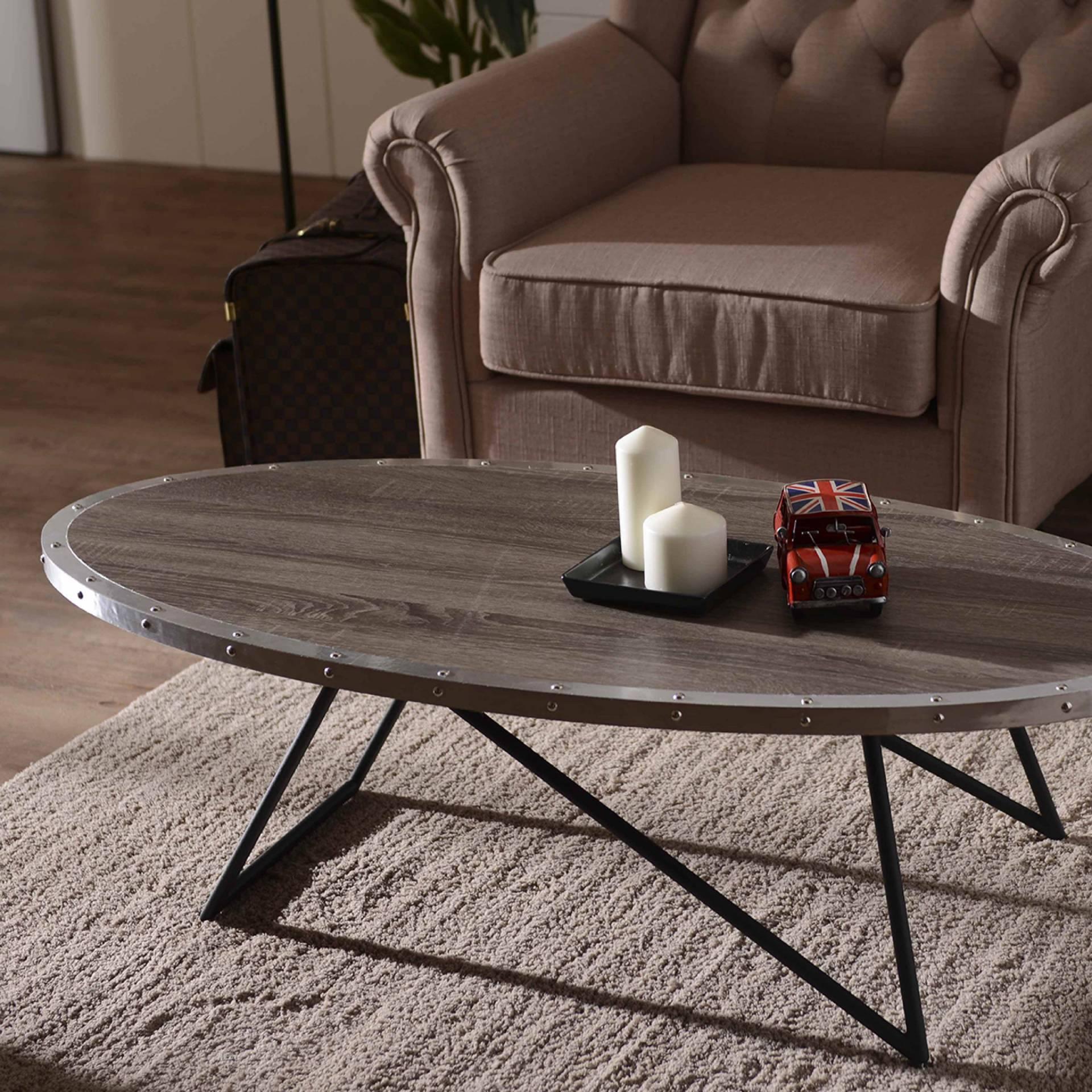 Oval Shape Coffee Desk Safe Green Furniture Supplier Slicethinner