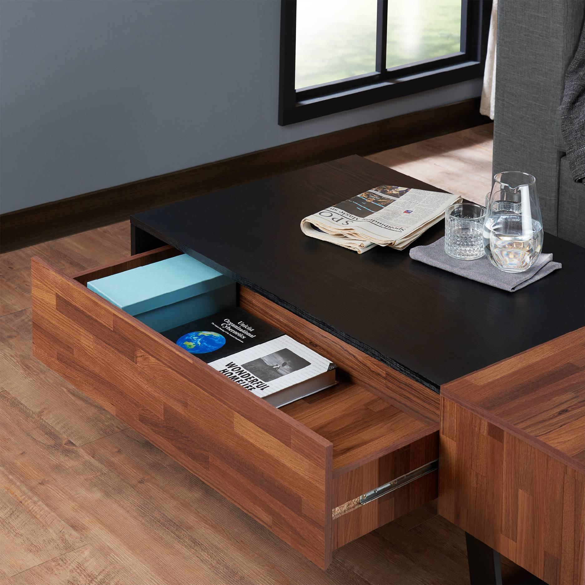 2e31428e07dfc Dark Teak Retro Kávový stolek | Kancelář a domov | Obývací pokoj ...