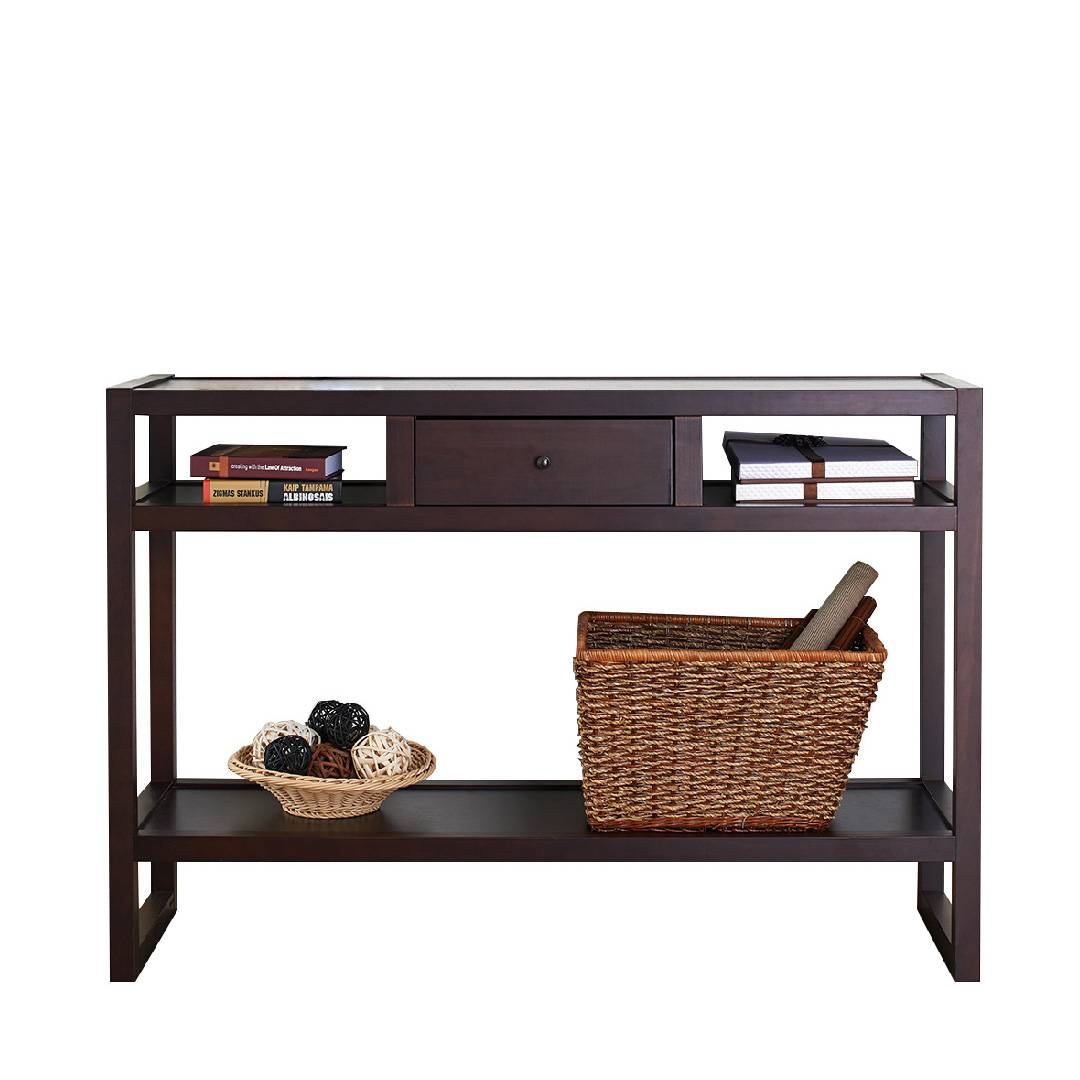 Solid Wood Retro Shape Console Table