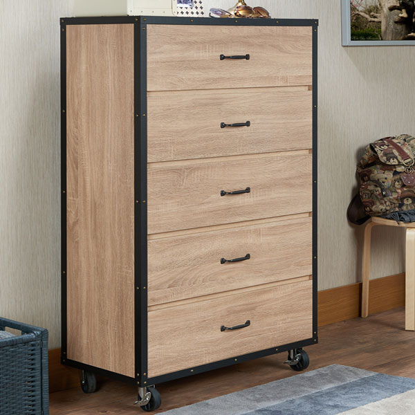 Light industrial style chest with warm color, show the awesome style of home.