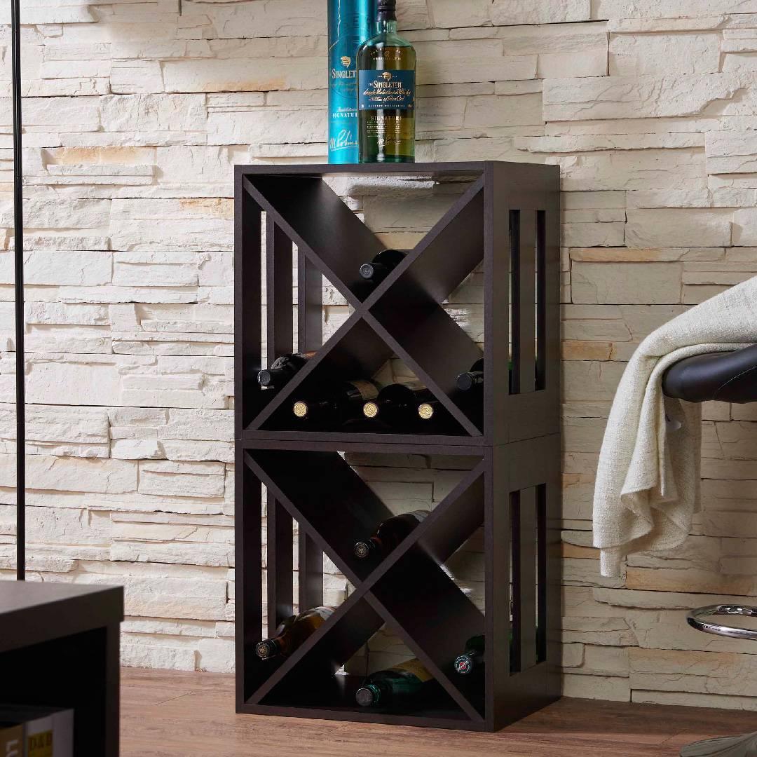 Modernes Quadratisches Weinregal Safe Green Furniture Lieferant Slicethinner