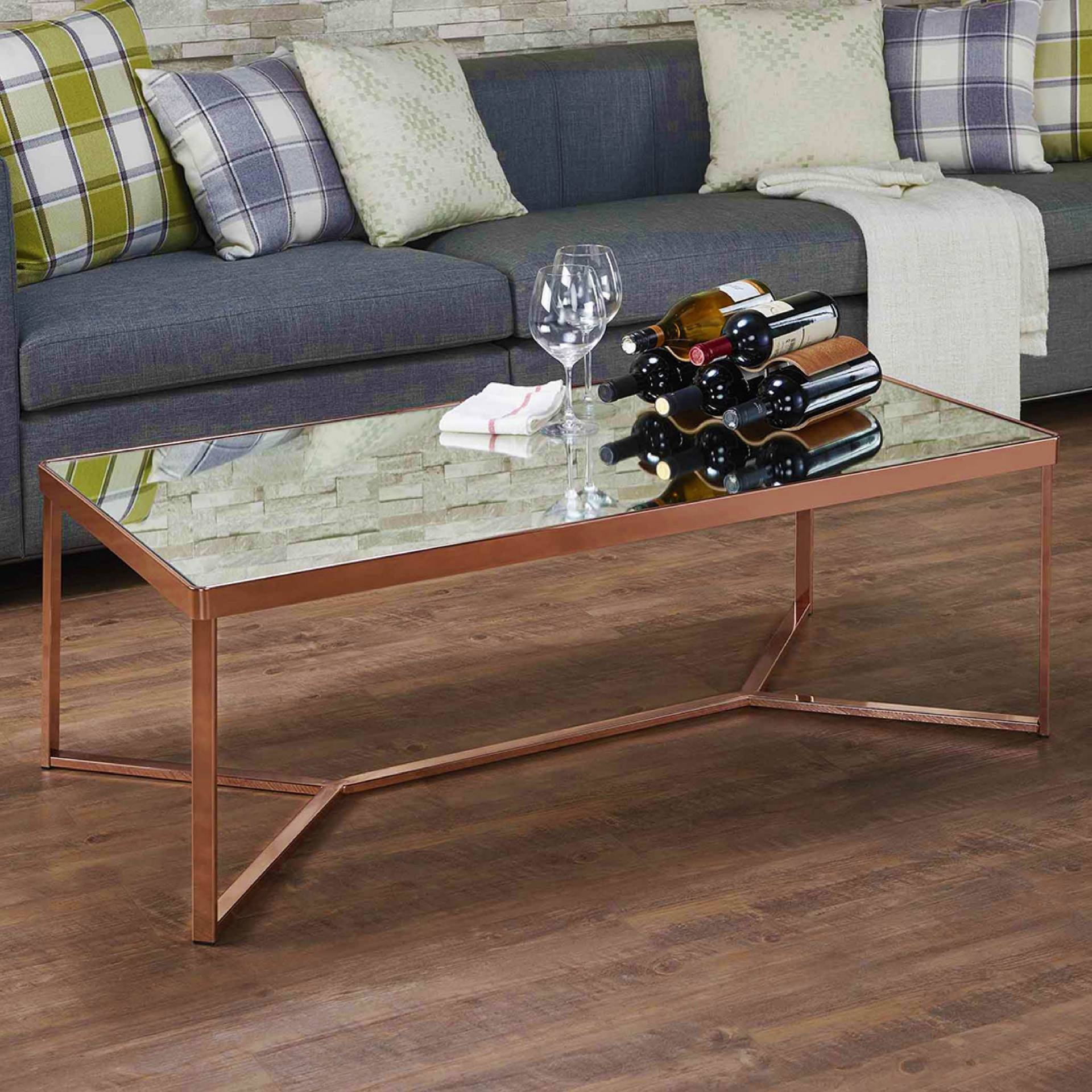 Mirror Surface Glass Coffee Table Supply One Stop Eco Friendly