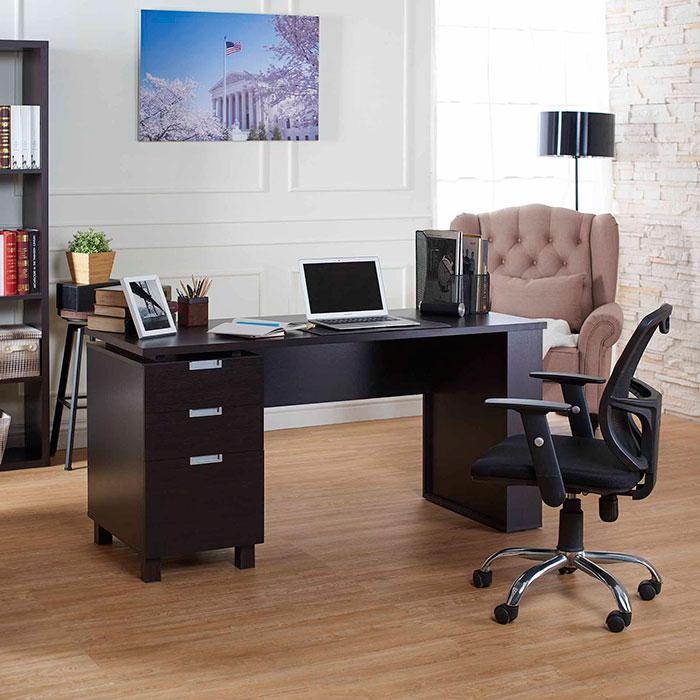 Ufficio, scrivania, tre cassetti, testa di moro, venti semplici.