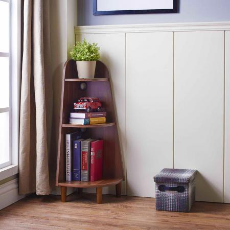 3 Layers One Fourth Round Light Bookshelf - for people who like plain and pure