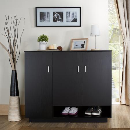 Four Three Floors Multilayer Curve Apron Shoe Cabinet - The shoe cabinet base adopts the convenient open design.