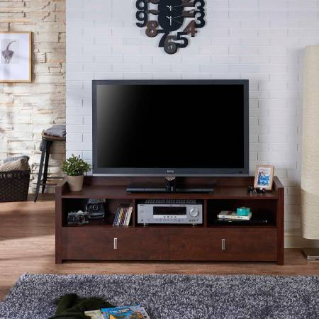1.4m Retro Style Simple TV Cabinet - Your things have protection, will not easily fall