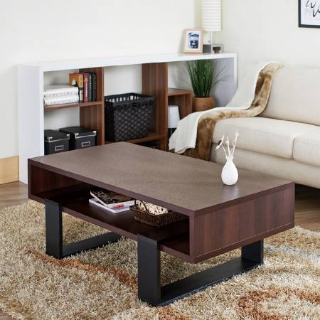 120 cm Spacious Solid Coffee Table - Practical modern coffee table