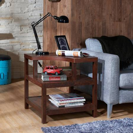 3 Layers Open-Style Space Rectangle Side Table - 3 layers design provides more putting space