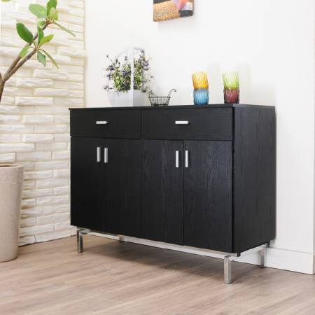 Black Textured Storage Cabinets - Metal hand handle corner seat locker