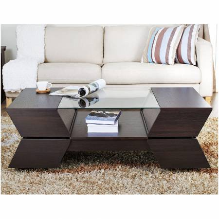 Unique coffee table appearance.