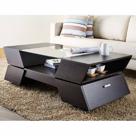 The side 4 storage spaces increase the coffee table hidden space.