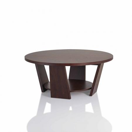Easy to assemble double layer round coffee table