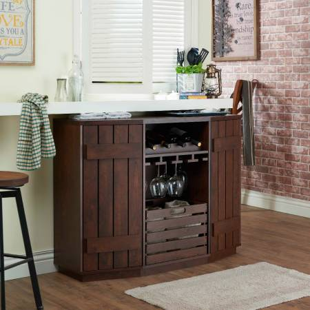 Industrial Style Multi-Function Storage Wine Cabinet - Wine cabinet (storage cabinet) has six layers of storage space.