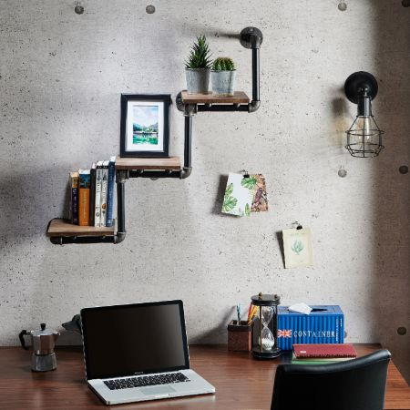 Industrial Style Pipe Three-Layer Ladder Shelf Rack - Industrial Style Water Pipe Three-Layer Ladder Shelf Rack