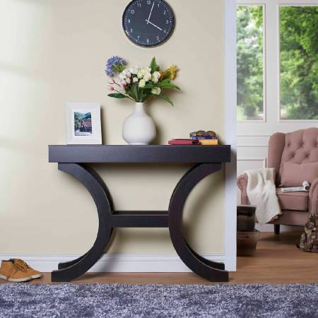 Italian Symmetrical Curve Console Table - Modern style console table.