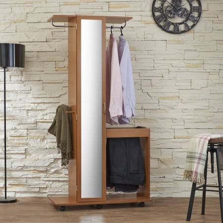 Wardrobe - Mirror, racks, storage space, removable, white, bedroom, apparel industry.