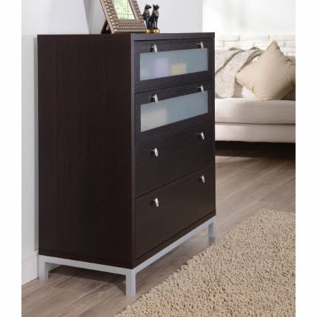 A stable metal leg column is used at the bottom of the drawer cabinet to make the whole more stable.