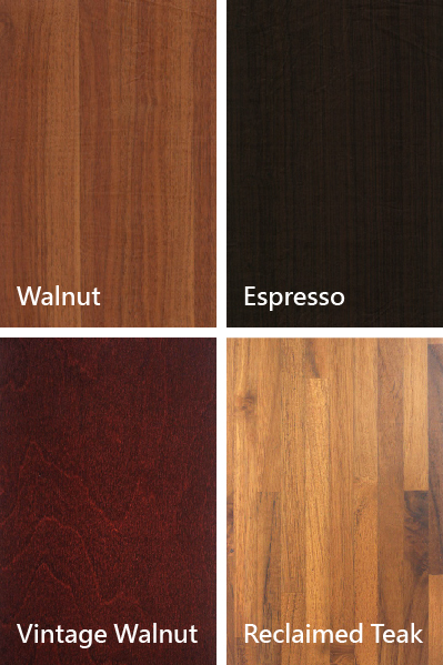 Walnut、Espresso、Vintage Walnut、Reclaimed Teak