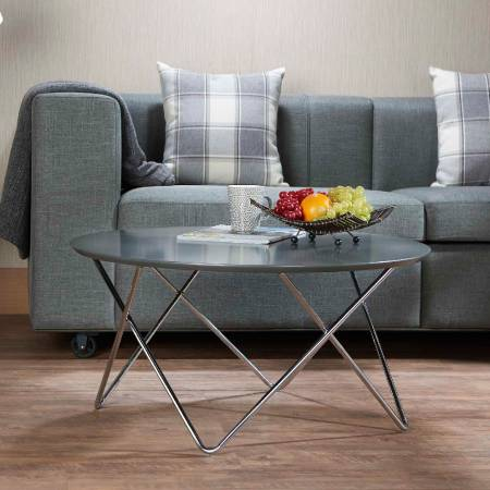 V Shape Metal Post Legs Coffee Table - Coffee table which is full of modern style